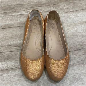 Lauren Leather Ballet Flats
